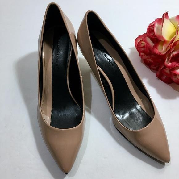 592610f64a Zara Shoes | New Basic Nude Patent Leather Heels Size 7 | Poshmark